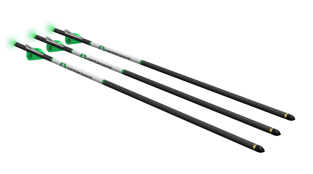 Carbon Arrows with Lighted Nock 3pk