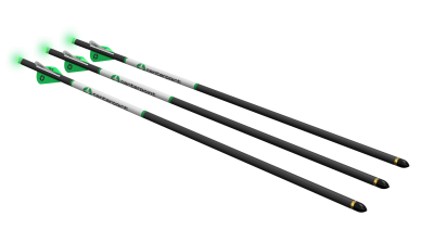 Carbon Arrows - 3pk with Lighted Half Moon Nocks
