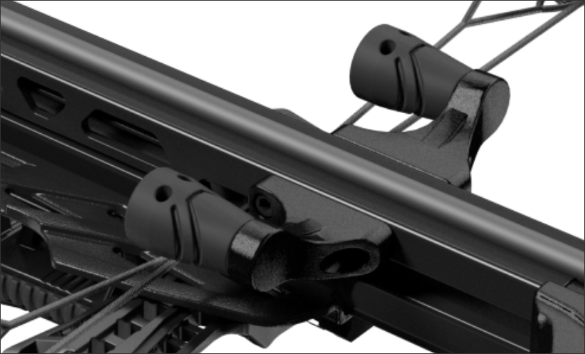 RAIL MOUNTED STRING STOPS